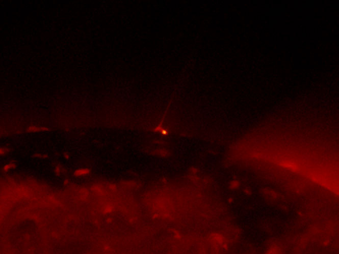 Hinode image of X-ray jet on Sun