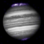X-ray image of Jupiter's aurorae