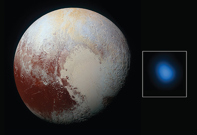 New Horizons (optical) and Chandra (X-ray) images of Pluto