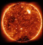 Hinode image of the Solar Corona from April 3 2009