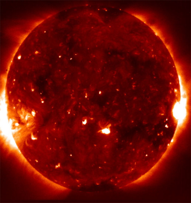 Hinode X-ray image of the sun