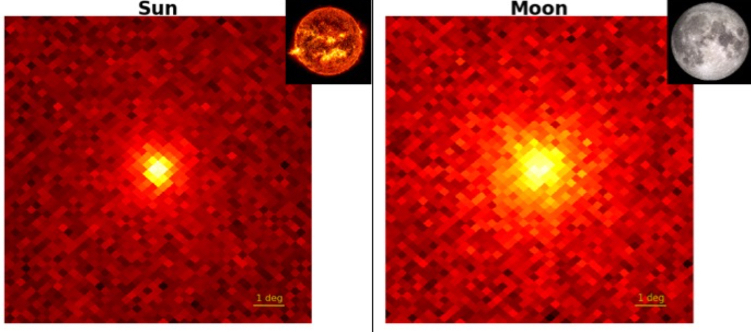 Fermi LAT images of Gamma-rays from the Sun and moon