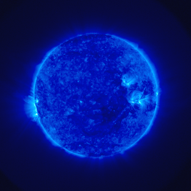 Stereo image of the solar corona