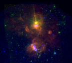 Sptizer and XMM image of Berkeley 87