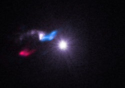 Composite X-ray/radio image of a star-forming cloud near the X-ray binary Cygnus X-3