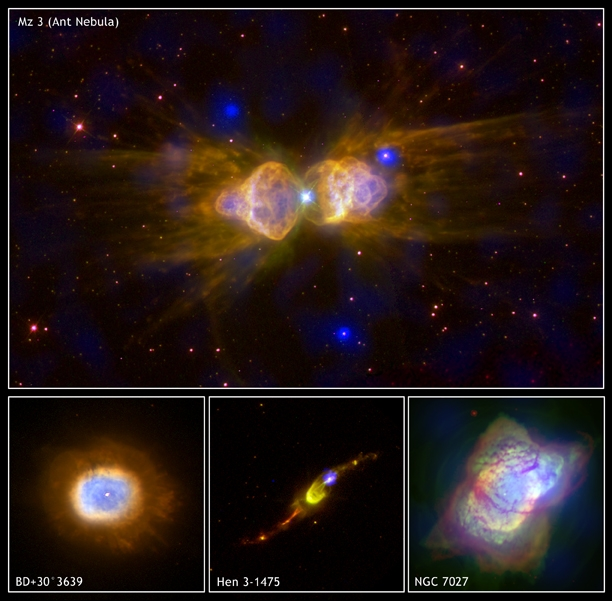 Chandra and HST images of planetary nebulae