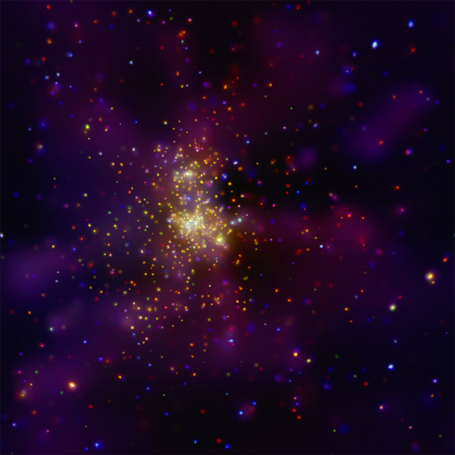 Chandra image of W2 and WR 20a