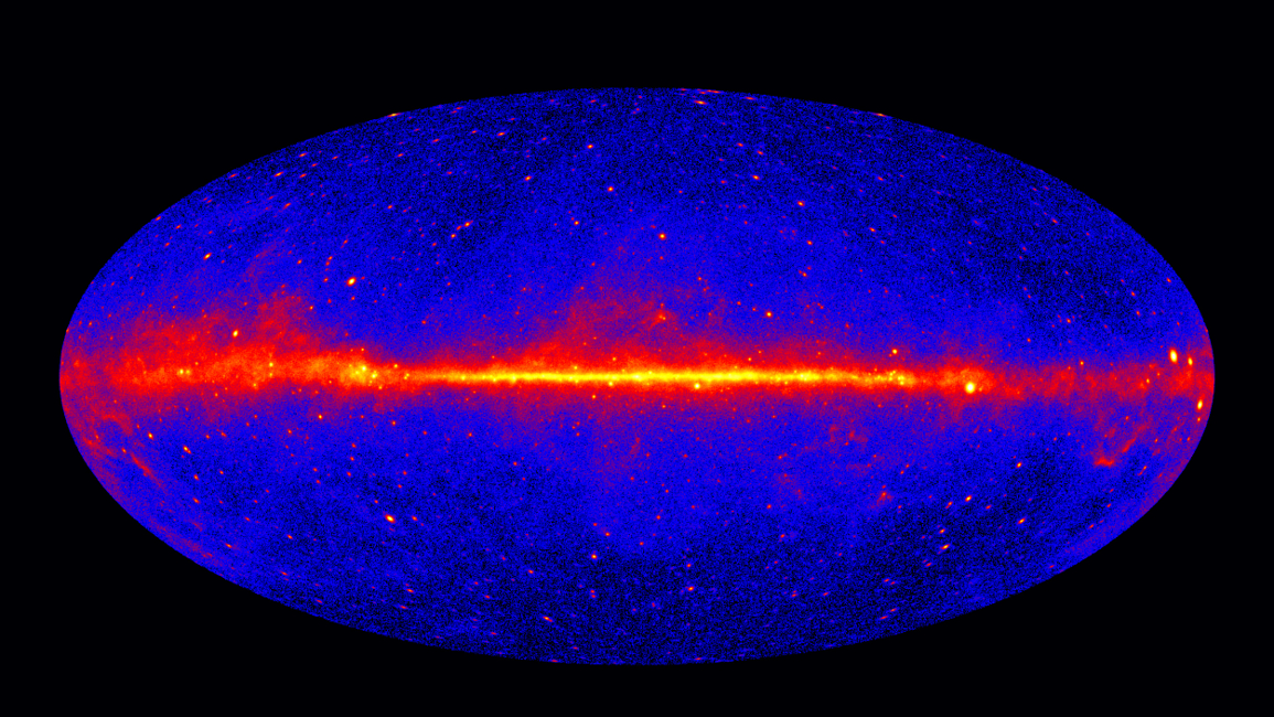 Fermi LAT all-sky gamma-ray image