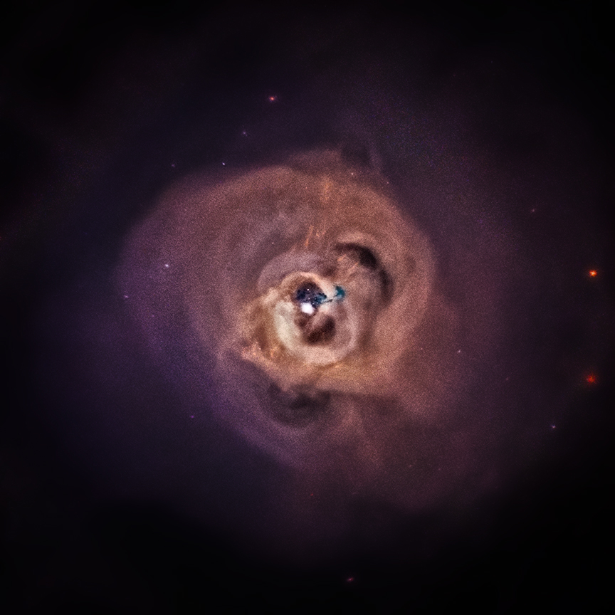 Chandra X-ray image of the Perseus Cluster; Hitomi's observation of this cluster produced a ground-breaking spectrum