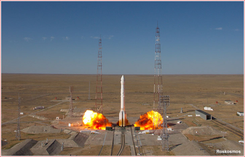 The launch of Spektr-RG, 14:31 on 13 July 2019
