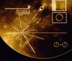 Early use of pulsar navigation on the Voyager Golden Record