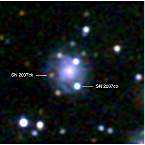 Swift/UVOT image of double supernovae