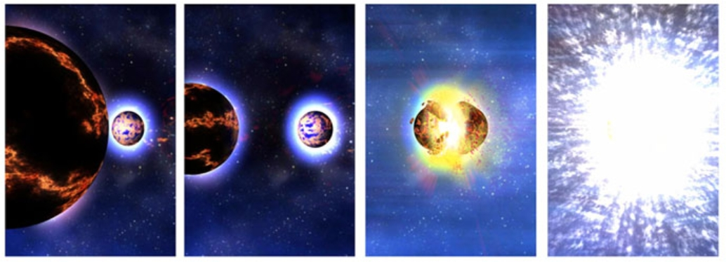 illustration of a neutron star binary merger