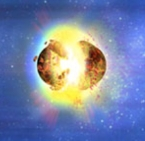 Artist conception of a neutron star merger