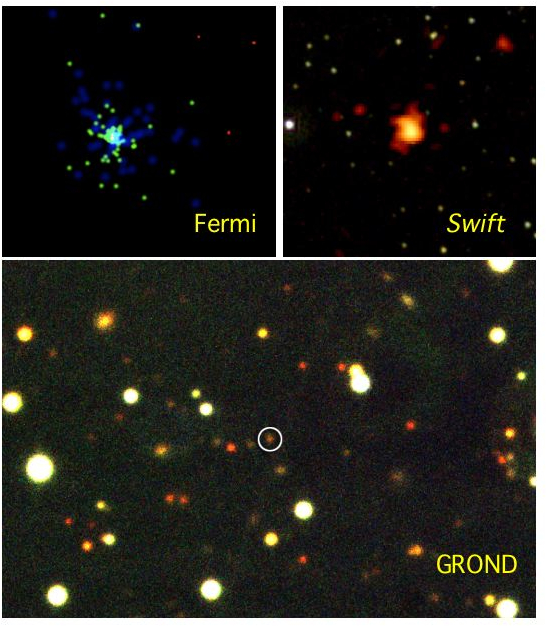 Extreme burst detected by Fermi, Swift and GROND