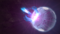 Artist conception of neutron starquake