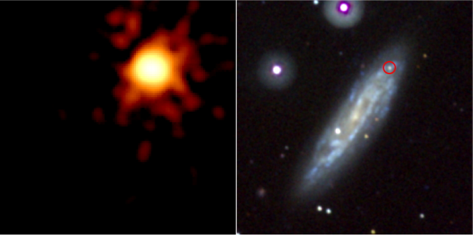 Swift images of SN 2008D