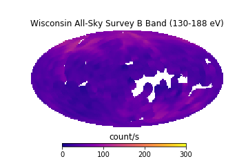 B band (130 - 188 eV) all-sky map from WASS