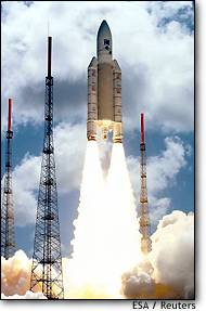 XMM Satellite Ariane Launch
