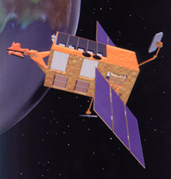 artist's concept of RXTE in space