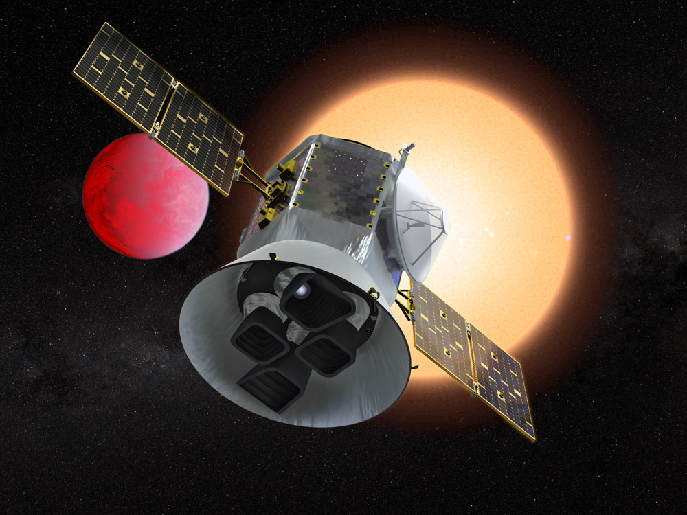 The TESS Spacecraft. Image Credit: NASA