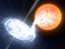 Artist's illustration of the binary system GX 339-4, credit: ESO/L. Calcada