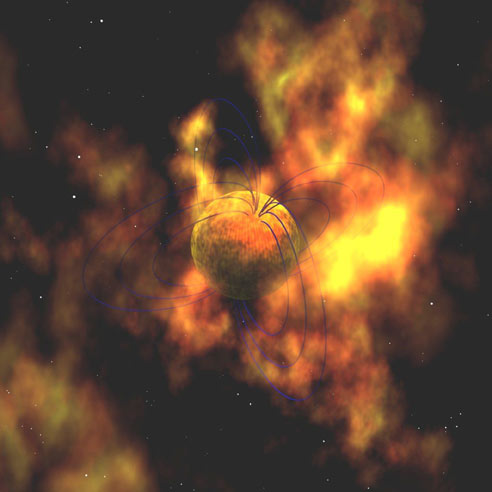 artist's concept of a magnetar